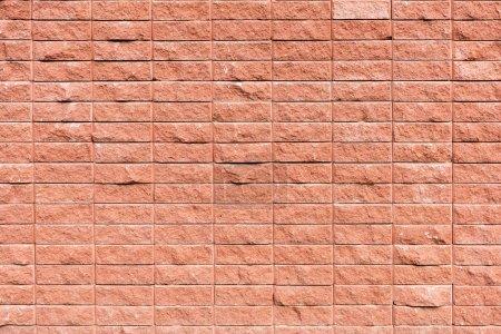Foto de Marco completo de la vista de la pared de ladrillo rojo con textura de fondo - Imagen libre de derechos
