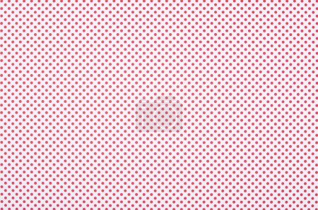 Red polka dot pattern on white background