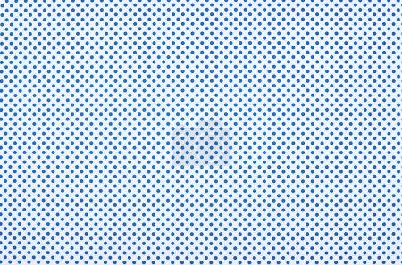 Blue polka dot pattern on white background