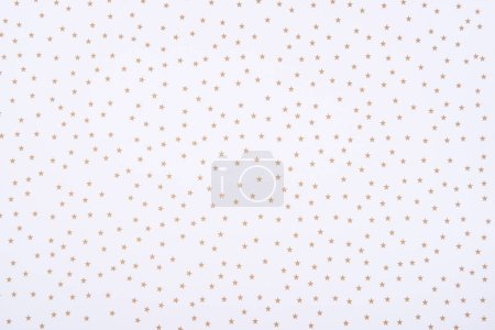 Photo for Abstract pattern with golden stars on white background - Royalty Free Image