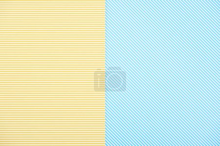 Photo for Abstract background with yellow and blue stripes - Royalty Free Image