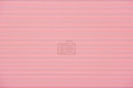 Photo for Striped horizontal red and white pattern texture - Royalty Free Image