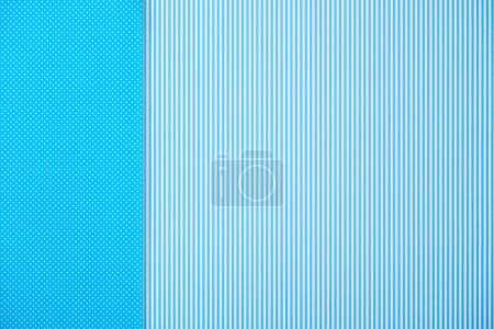 Abstract background with blue striped and polka dot patterns