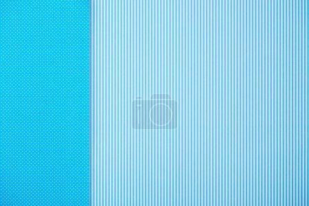 Fond abstrait avec rayures bleues et motifs à pois