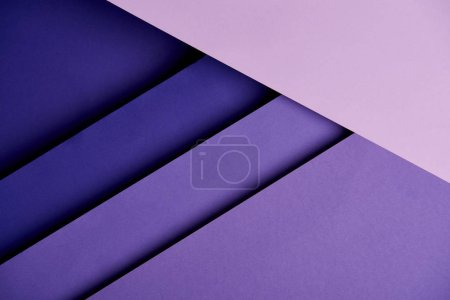 Abstract background with purple overlapping paper sheets