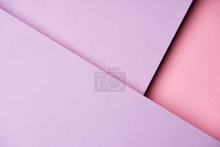 Abstract background with paper sheets in purple and pink tones
