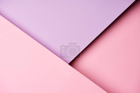 Diagonal pattern of paper in purple and pink colors