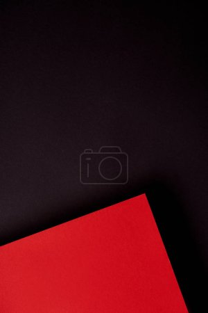 Photo for Pattern of overlapping paper sheets in red and black - Royalty Free Image