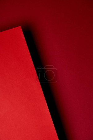 Pattern of overlapping red paper sheets