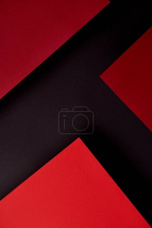 Photo for Abstract background with red paper sheets on black - Royalty Free Image