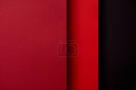 Photo for Abstract background with paper sheets in red tones - Royalty Free Image