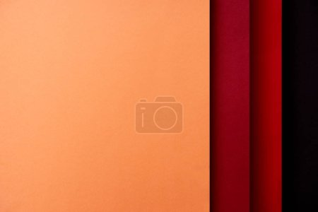 Photo for Abstract background with paper sheets in red and orange tones - Royalty Free Image