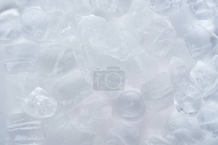 close-up view of frozen ice cubes background