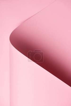 close-up view of abstract beautiful bright pink colored paper background