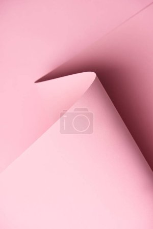 close-up view of beautiful light pink abstract paper background