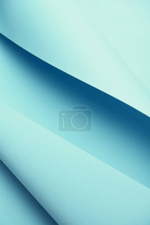 close-up view of colored blue abstract paper background