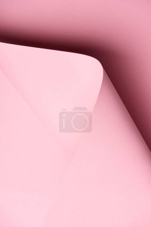 close-up view of beautiful bright pink abstract paper background