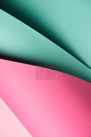 close-up view of abstract creative bright colored paper background