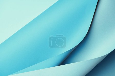 close-up view of creative blue abstract paper background