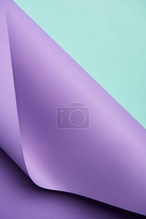 Photo for Beautiful creative abstract turquoise and purple paper background - Royalty Free Image