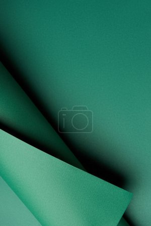 close-up view of green abstract creative paper background