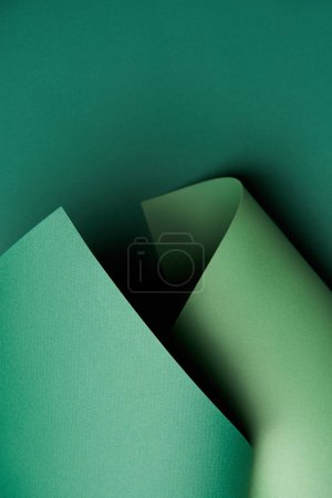 Photo for Beautiful bright abstract green paper background - Royalty Free Image