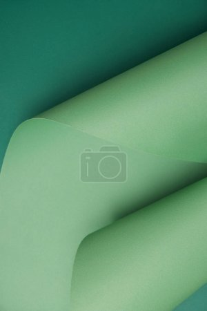 close-up view of beautiful abstract green paper background