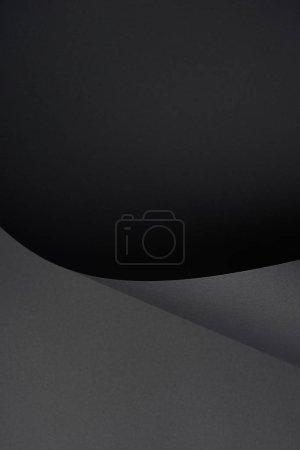 Foto de Fondo de papel con textura abstracto negro oscuro - Imagen libre de derechos