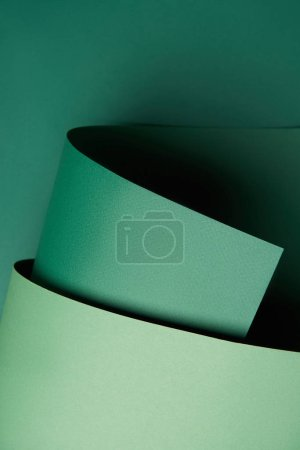 close-up view of beautiful green creative paper background