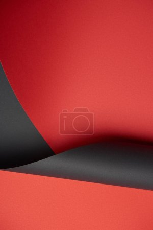 beautiful abstract blank red and black paper background