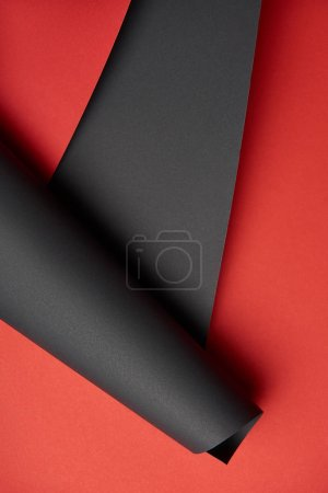 creative abstract blank red and black paper background