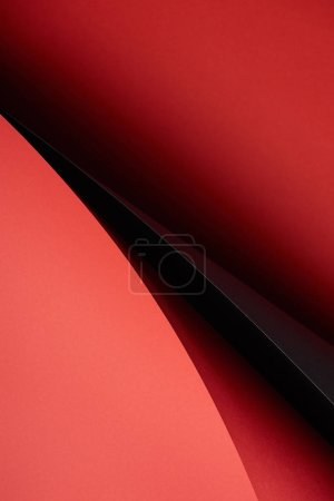 close-up view of creative abstract red and black paper background