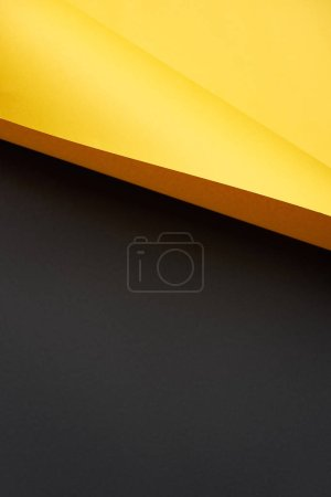beautiful blank yellow and black paper background