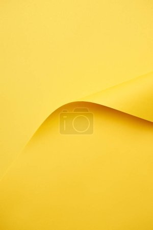 close-up view of beautiful blank bright yellow paper background