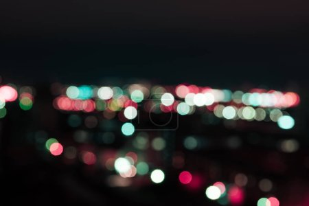 Photo for Defocused background with bright bokeh lights at night - Royalty Free Image