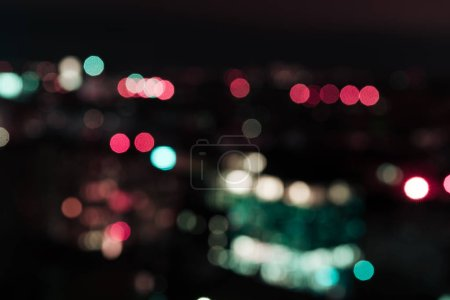 Photo for Dark night background with colorful bokeh lights - Royalty Free Image