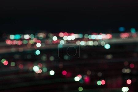 Foto de Bokeh colorido borrosa luces en la noche - Imagen libre de derechos