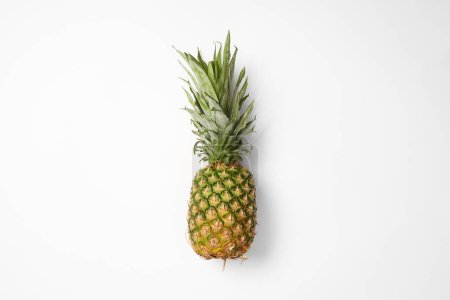 Photo for Top view of raw and fresh pineapple on white background - Royalty Free Image