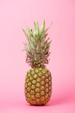 Photo for Healthy, organic and sweet pineapple on pink background - Royalty Free Image
