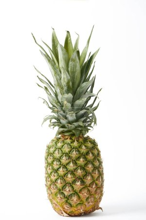 organic, sweet and tasty pineapple on white background