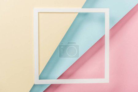 Photo for White paper square frame and blank colorful papers - Royalty Free Image