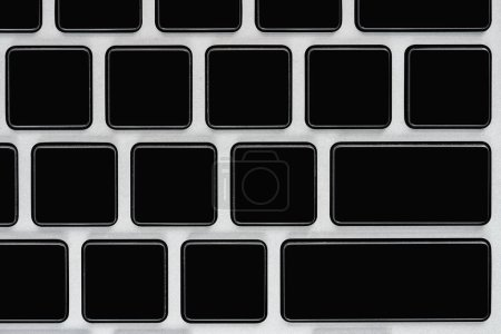 Close up view of black laptop keyboard