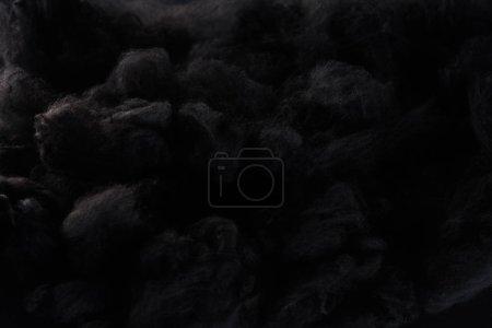 black cotton wool clouds, dark Halloween background