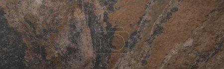 Draufsicht auf strukturierte Steinoberfläche mit Kopierraum, Panoramaaufnahme