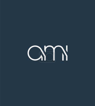 Illustration pour Lettres logo Ami modèle pour bannière d'entreprise - image libre de droit