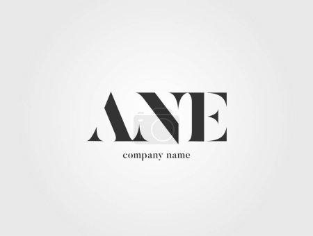 Illustration pour Lettres logo Ane modèle pour bannière d'entreprise - image libre de droit