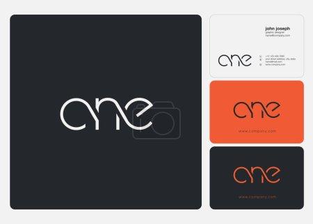 Illustration pour Logo joint cne pour modèle de carte de visite, vecteur - image libre de droit
