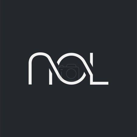Illustration pour Logo joint nol pour modèle de carte de visite, vecteur - image libre de droit