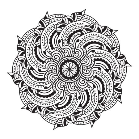 Illustration for Abstract mandala pattern, vector illustration - Royalty Free Image