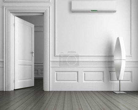 Photo pour Intérieur lumineux moderne appartement Salon Illustration rendu 3D - image libre de droit